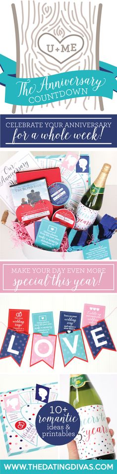 Countdown Anniversary Idea- SUCH a sweet DIY anniversary idea!!!! Printable…