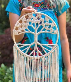 Diy Crafts - Tree of Life Macrame - Tree of Life Wall Decor - Boho Chic - Hippie Chic - Present for Her - Nursery Hippie Chic, Boho Chic, Hippie Life, Macrame Owl, Macrame Knots, Crochet Hippie, Dream Catcher Craft, Macrame Wall Hanging Diy, Tree Of Life Jewelry