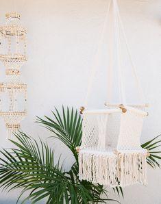 Crochet & Fringe Detailed Hammock Baby Swing
