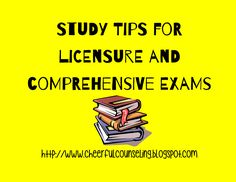 Cheerful Counseling Blog: Tips for studying for licensure and comprehensive exams!