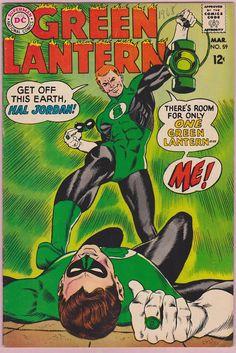 Guy Gardner stunned Hal Jordan for the first time..