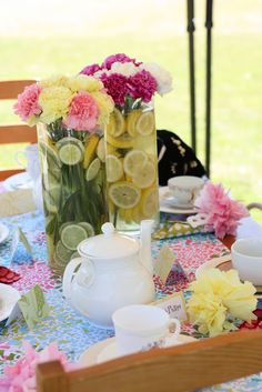 Mother, Daughter Tea Party 3rd Birthday Brunch - Kara's Party Ideas - The Place for All Things Party