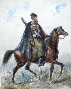 Un circassien Sipahi dans le armée ottomane .