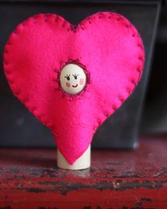 valentine heart peg doll