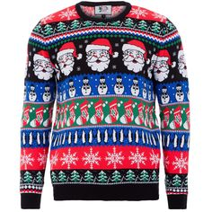 Wear Santa and snowmen with this Christmas jumper.
