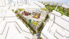 """Paris Billancourt Ilot Y in Paris, France by Mecanoo Architecten"""