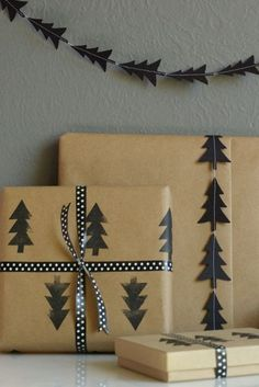 Christmas Gift Wrapping Ideas You'll Definitely Want To Try No Fancy Gift Wrapping Techniques Required For These Stunning Present Wrapping Ideas Christmas Gifts Via Elegant Gift Wrapping Gift Wrapping Creative Christmas Gifts, Diy Holiday Gifts, Christmas Gift Wrapping, Creative Gifts, Christmas Diy, Christmas Trees, Christmas Presents, Diy Gifts, Christmas Ornaments