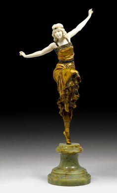 Paul Philippe -Russian Dancer - 1920 - Koller Auctions - Art Nouveau & Deco