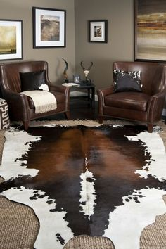 Interior, Decor Ideas, Area Rugs, Cowhide Rug Decor Living Room, Wall Color, Rooms With Cowhide Rugs, Cow Hide Rugs Living Room, Design