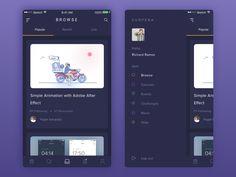 Zunpena - Design Courses App by Panggih Giri Samudra #Design Popular #Dribbble #shots