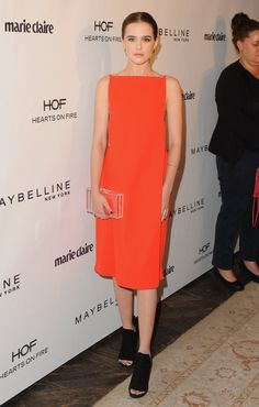 Pin for Later: Jessica Biel Did One Better Than Breakfast at Tiffany's Zoey Deutch Zoey Deutch at Marie Claire's Fresh Faces Party.