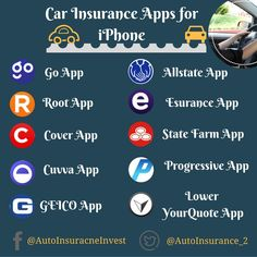 Car Insurance is important thing you must need before driving in US. Auto Insurance companies have their own app for policy buyers best Car Insurance Apps Low Car Insurance, Auto Insurance Companies, Cover App, App State, State Farm, Auto News, Apps, Iphone, App