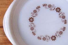 Vintage Milk Glass Pie Plate by CabinClareVintage on Etsy