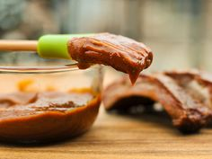 Kansas City-Style BBQ Sauce ~ I'll wager that when most people think of barbecue sauce, they're picturing a thick, sweet, and tangy tomato mixture—that's Kansas City style and probably the most fitting place to start this exploration. Barbecue Sauce Recipes, Barbeque Sauce, Grilling Recipes, Cooking Recipes, Bbq Sauces, Grilling Ideas, Kc Style Bbq Sauce Recipe, Pork Barbecue, Vegetarian Grilling