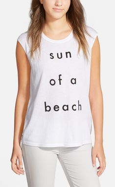 This cheeky Rebecca Minkoff tee is totally appropriate for summer wear. @nordstrom #nordstrom