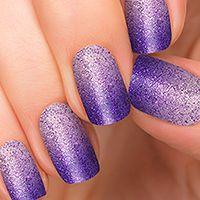 glitter ombre nails perfect prom purple Incoco swatch 2