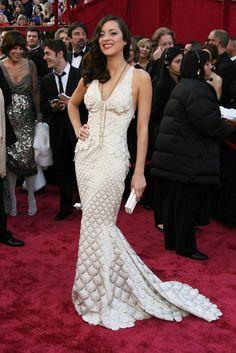 Marion Cotillard, 2008. Best Oscar dresses...