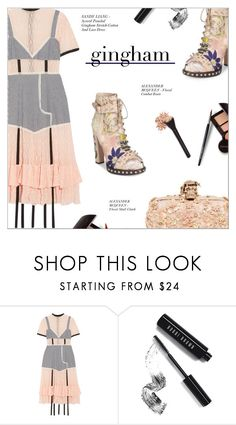 """""""CHECK REPUBLIC: GINGHAM DRESS"""" by larissa-takahassi ❤ liked on Polyvore featuring Sandy Liang, Laura Mercier, Alexander McQueen, Bobbi Brown Cosmetics, Spring, AlexanderMcQueen, florals, gingham and sandyliang"""