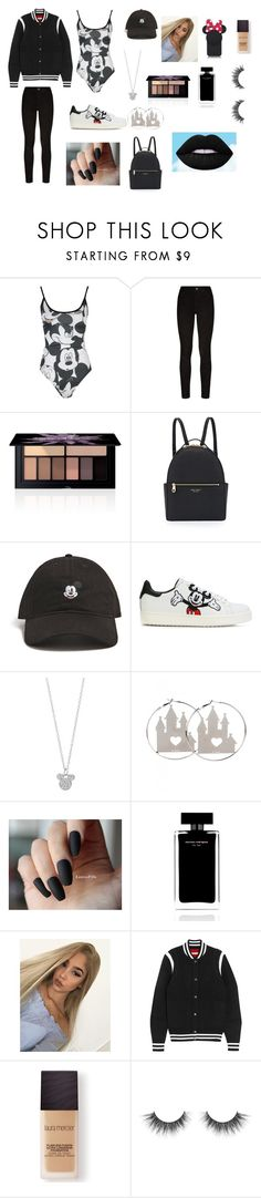 """mickey mouse"" by disneynakaiya ❤ liked on Polyvore featuring Disney, Paige Denim, Smashbox, Henri Bendel, Forever 21, MOA Master of Arts, Kate Spade, Narciso Rodriguez, Givenchy and Laura Mercier"