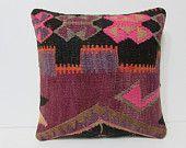 kilim pillow 18x18 decorative kilim pillow cotton pillow cover primitive pillow cover outdoor pillow case bench pillow cover colourful 25744