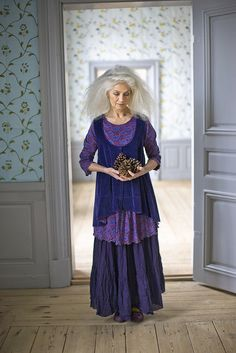 Gudrun Sjöden Winter 2012. I love everything about this photo: the hair, the clothes, the colors.