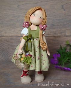Cute Polymer Clay, Polymer Clay Dolls, Polymer Clay Miniatures, Polymer Clay Projects, Clay Fairy House, Fairy Figurines, Decoupage Vintage, Fondant Figures, Waldorf Dolls