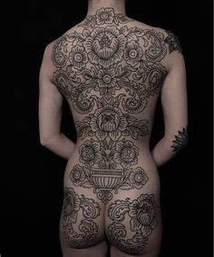 My ornamental back piece by Clinton Lee at Ink & Dagger in Roswell Ga Japanese tattoo sleeve btctrader1.weebly.com