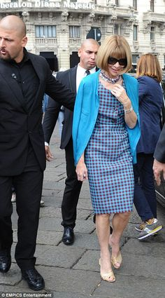 Same shoes, different dress - same day: Arriving for the Gucci show in Milan yesterday