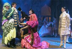 Harlow Playhouse. Cinderella Design - Malvern Hostick Copyright ©. James Miller (Fatima.) Stuart Simpson (Fanny.)