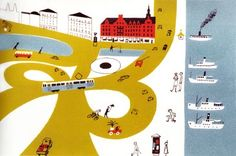 Olle Eskell Painting - feels like M. Lasek  /  children's art of the 50s