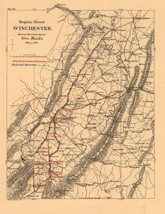 Maps illustrating campaign of Gen. T. J. (Stonewall) Jackson in the Shenandoah Valley of Virginia in 1862 Compiled by Jed. Hotchkiss    Explore these maps more fully at http://zoom.it/7woL
