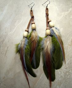 Long Feather Earrings #featherearrings #feathers #fashion