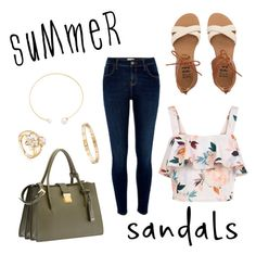 """""""Untitled #162"""" by paigeromano ❤ liked on Polyvore featuring Billabong, New Look, River Island, Miu Miu, Fallon, Cartier and summersandals"""