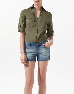 CAMISA SAFARI - Camisas - Mujer - ZARA España