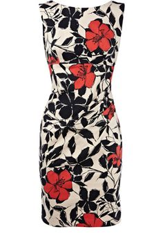 Cute if i could fit into it  :-) Abstract Poppy Print Dress    $115.00 This would be a cute dress for work.