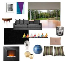 """Interior inspiration"" by malinandersson on Polyvore featuring interior, interiors, interior design, home, home decor, interior decorating, Dalyn, HAY, Gus* Modern and Dimplex"