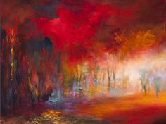 "Saatchi Online Artist: Rikka Ayasaki; Acrylic, Painting ""Passions, Boulogne forest 7024"""
