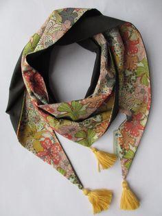 Foulard liberty Mauvey mangue  : Echarpe, foulard, cravate par poisson-d-avril