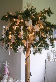 Seashell Christmas -on my bucket list..to decorate a palm tree under the sun ..just one Christmas..please!!!