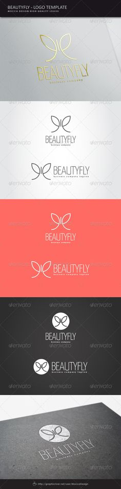 Beautyfly  Logo Design Template Vector #logotype Download it here: http://graphicriver.net/item/beautyfly-logo/8493569?s_rank=251?ref=nexion