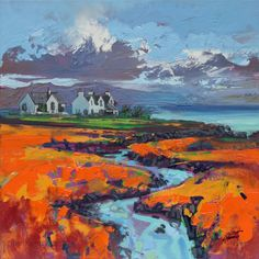 Colours of Broadford by NaismithArt (print image) Seascape Art, Abstract Landscape Painting, Landscape Art, Landscape Paintings, Abstract Art, Abstract Paintings, Art Paintings, Modern Artwork, Art Images