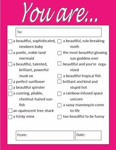 "- Check list of the 16 quirkiest Leslie's compliments to Ann - 4.25"" x 5.5"" notepad - 50 sheets, bright pink border - Shower your BFF with Leslie-approved compliments - Unique Parks and Rec gag gift """