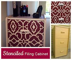 DIY: Stencilling and Revamping an Old Filing Cabinet