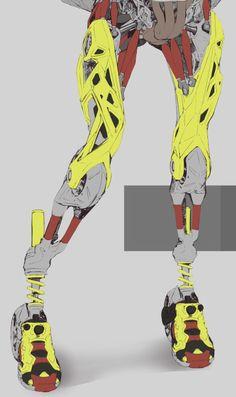"rhubarbes: "" Mech legs / lost source. """