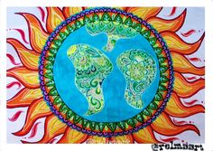 "5 curtidas, 1 comentários - @relmaart no Instagram: ""#mandalaart #earth #sun #love #drawing #mandalalove #life #artist #art❤🌍🌞"""