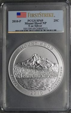 2010-P Mount Hood NP 5 Oz Silver PCGS SP69 First Strike