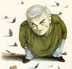Tullio Pericoli Milan Kundera Writers And Poets, Italian Painters, Man Images, Vignettes, Illustrators, Milan, My Arts, Tulle, Drawings
