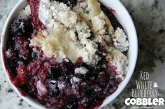 Red, White & Blueberry Cobbler | Mix and Match Mama