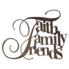 Faith Family Friends Wall Decor