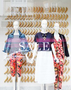 """J CREW LONDON SALE, """"they are going bananas', pinned by Ton van der Veer"""